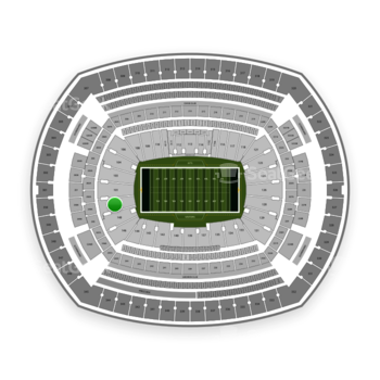 New York Jets at MetLife Stadium Section 149 View