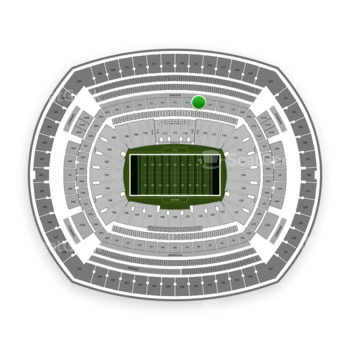 New York Jets at MetLife Stadium Section 216 View
