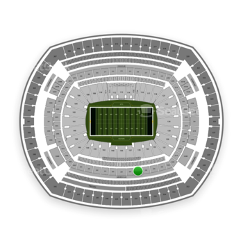 New York Jets at MetLife Stadium Section 236 View