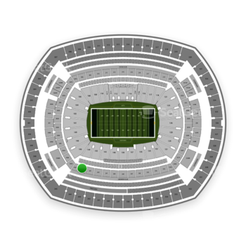 New York Jets at MetLife Stadium Section 244 View