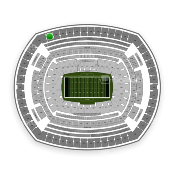 New York Jets at MetLife Stadium Section 308 View