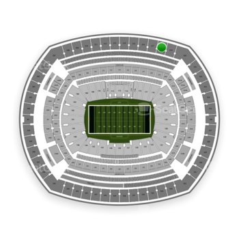New York Jets at MetLife Stadium Section 318 View