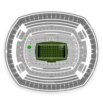 New York Jets at MetLife Stadium Section 103 View