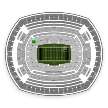 New York Jets at MetLife Stadium Section 106 View