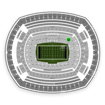 New York Jets at MetLife Stadium Section 118 View