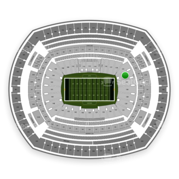 New York Jets at MetLife Stadium Section 123 View