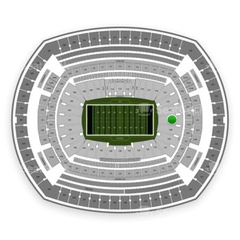 New York Jets at MetLife Stadium Section 126 View