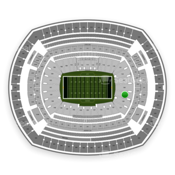 New York Jets at MetLife Stadium Section 128 View