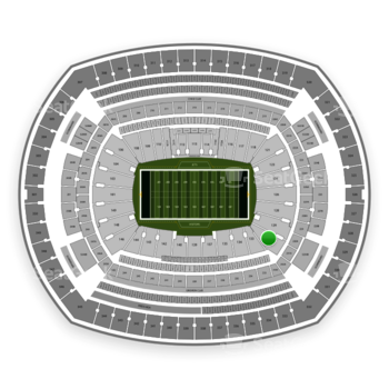 New York Jets at MetLife Stadium Section 131 View
