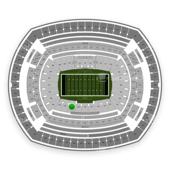New York Jets at MetLife Stadium Section 142 View