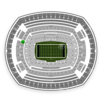 New York Jets at MetLife Stadium Section 204 View