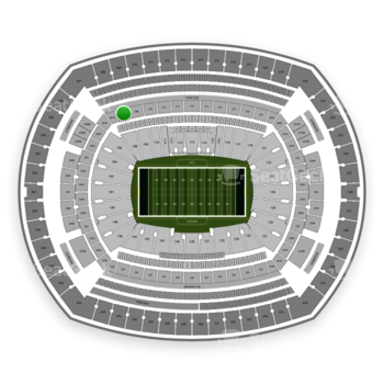 New York Jets at MetLife Stadium Section 208 View