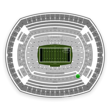New York Jets at MetLife Stadium 232 C View