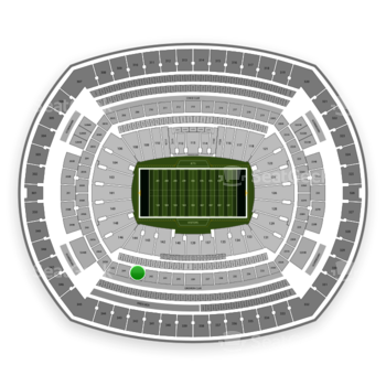 New York Jets at MetLife Stadium Section 243 View