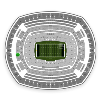 New York Jets at MetLife Stadium 250 B View