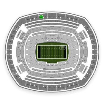 New York Jets at MetLife Stadium Section 311 View