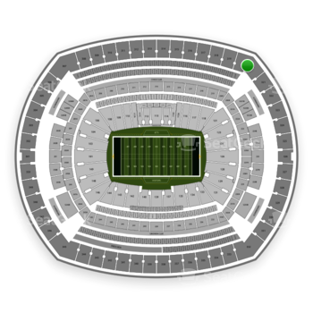 New York Jets at MetLife Stadium Section 320 View