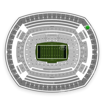 New York Jets at MetLife Stadium Section 321 View