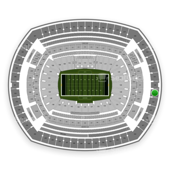 New York Jets at MetLife Stadium Section 327 View