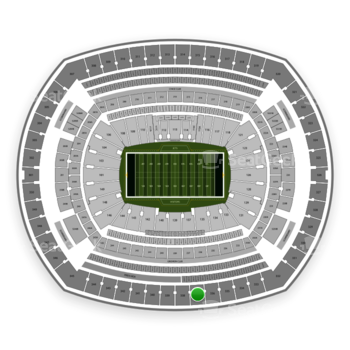 New York Jets at MetLife Stadium Section 337 View