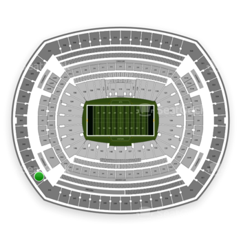 New York Jets at MetLife Stadium Section 346 View