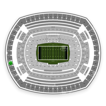New York Jets at MetLife Stadium Section 349 View