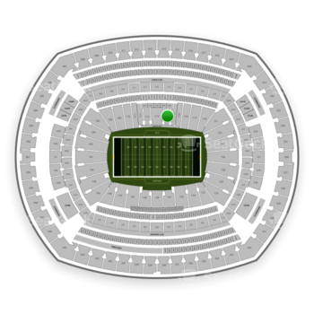 New York Jets at MetLife Stadium Section 114 View