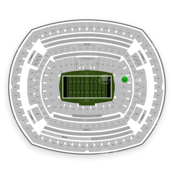 New York Jets at MetLife Stadium Section 124 View