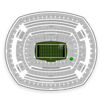 New York Jets at MetLife Stadium Section 129 View
