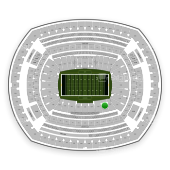 New York Jets at MetLife Stadium Section 134 View