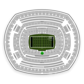 New York Jets at MetLife Stadium Section 139 View