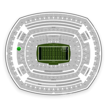 New York Jets at MetLife Stadium 202 B View