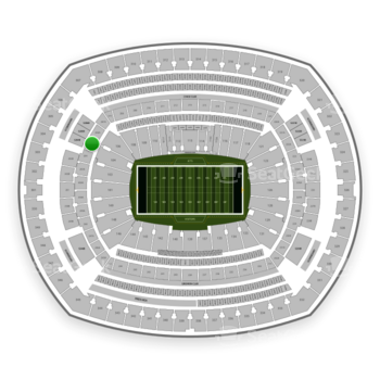 New York Jets at MetLife Stadium Section 205 A View