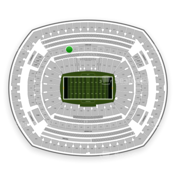 New York Jets at MetLife Stadium Section 210 View