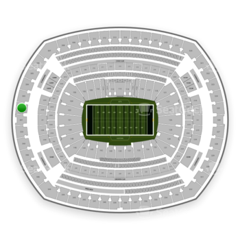 New York Jets at MetLife Stadium Section 302 View