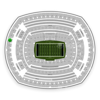 New York Jets at MetLife Stadium Section 303 View