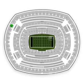 New York Jets at MetLife Stadium Section 305 View