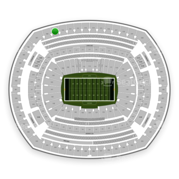 New York Jets at MetLife Stadium Section 309 View