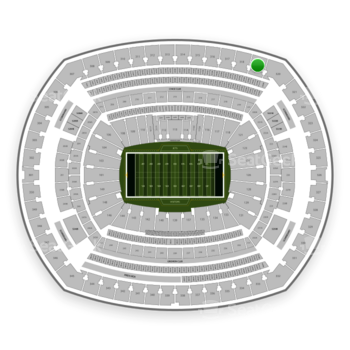 New York Jets at MetLife Stadium Section 319 View