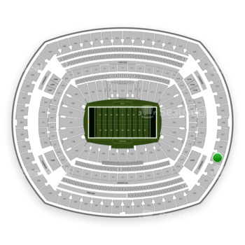 New York Jets at MetLife Stadium Section 329 View