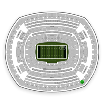 New York Jets at MetLife Stadium Section 332 View