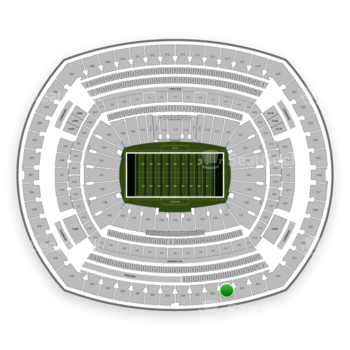 New York Jets at MetLife Stadium Section 335 View