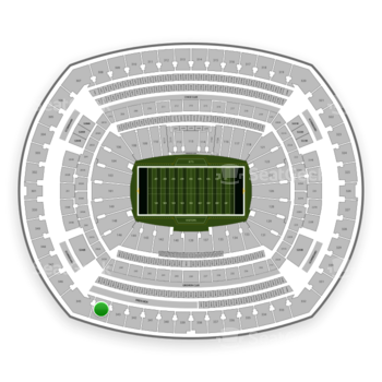 New York Jets at MetLife Stadium Section 344 View