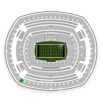 New York Jets at MetLife Stadium Section 345 View