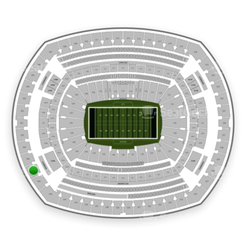 New York Jets at MetLife Stadium Section 347 View