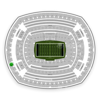 New York Jets at MetLife Stadium Section 348 View