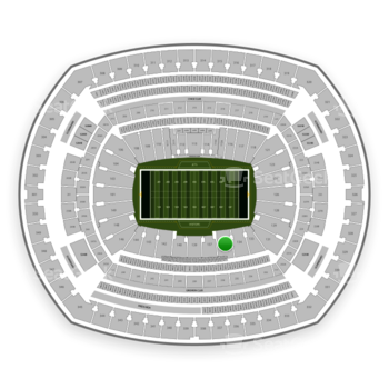 New York Jets at MetLife Stadium Section 135 View