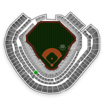 Texas Rangers at Globe Life Park Section 121 View