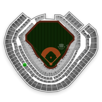 Texas Rangers at Globe Life Park Section 217 View