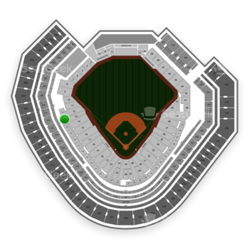Texas Rangers at Globe Life Park Section 113 View
